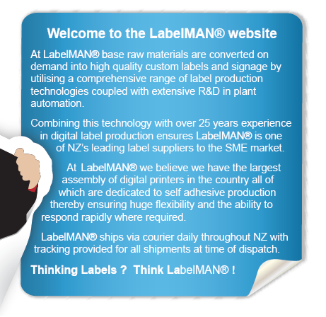 Welcome to the LabelMAN® website. At LabelMAN® over 25 years experience in digital label production coupled